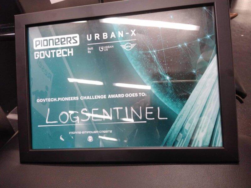 LogSentinel-Pioneers-Govtech-certificate