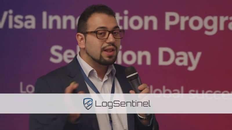 Anton Gerunov speaking at Visa Innovation Opening
