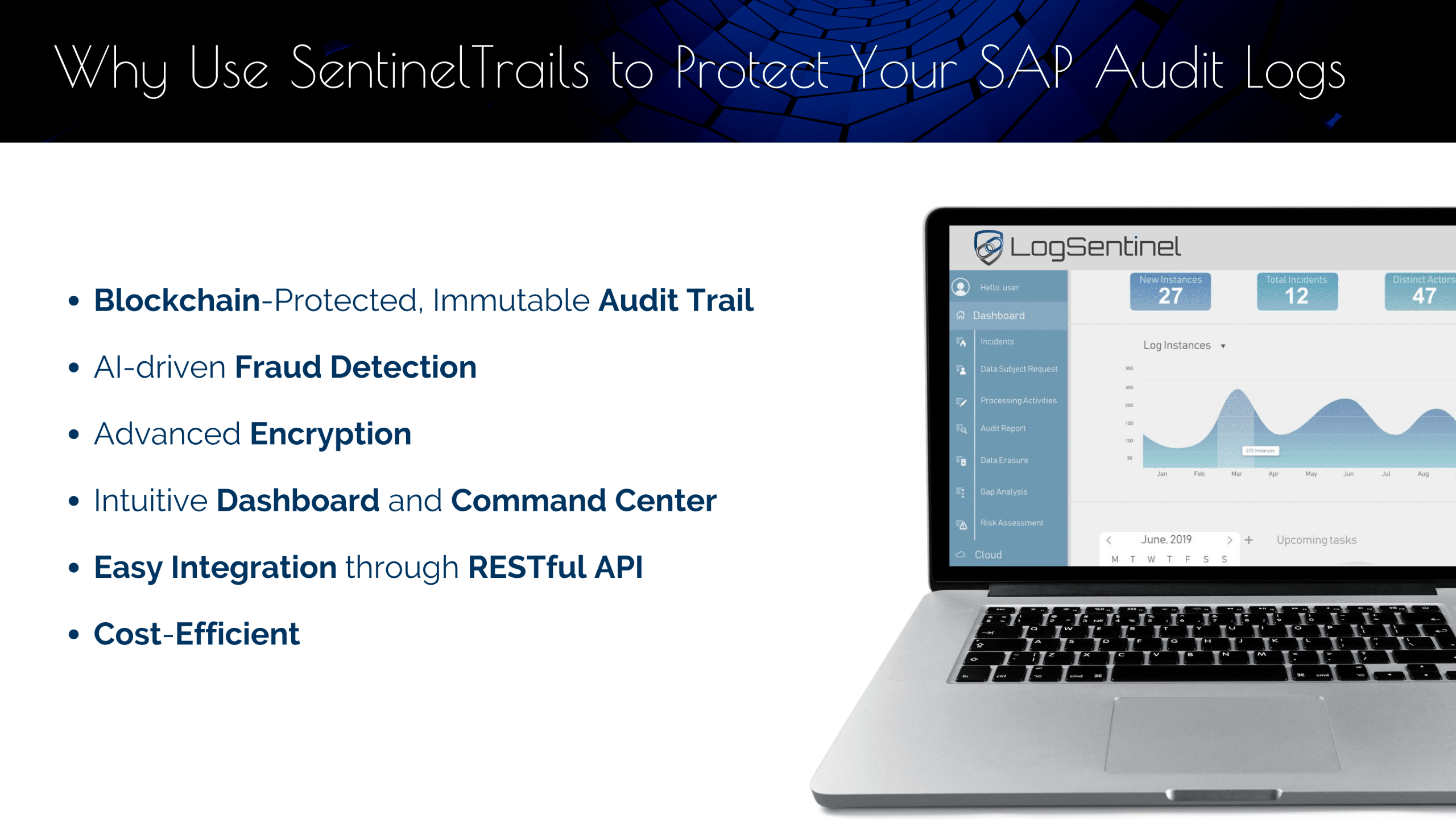 SentinelTrails' features to protect SAP audit logs