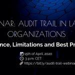 Webinar: Audit Trail in Large Organisations