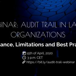 WEBINAR Audit Trail in Large Organizations