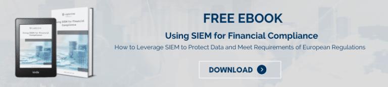 FREE EBOOK Using SIEM for Compliance banner Fintech