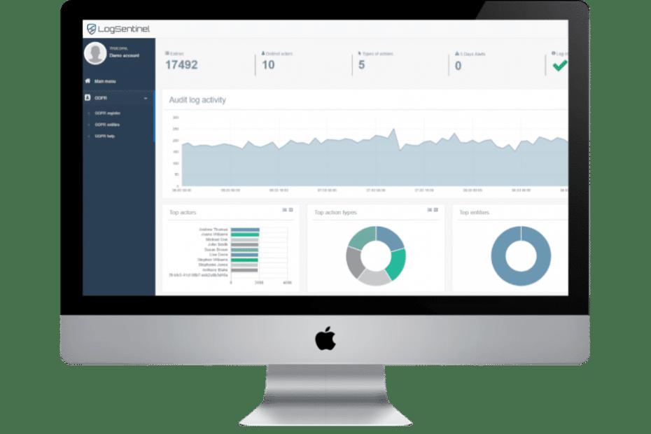 Logsentinel SIEM-dashboard