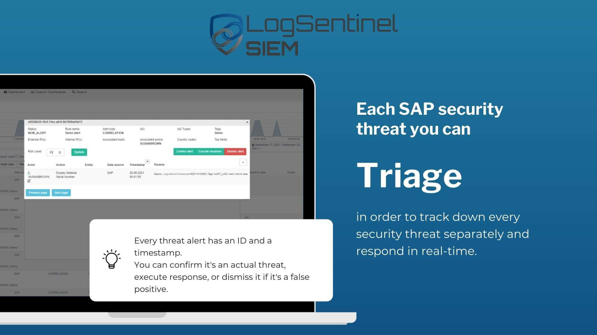 Triage security threats